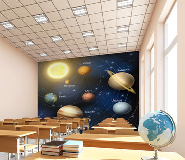 3D Cosmic Planet 151 Wall Murals