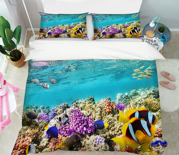 3D Seabed Coral 21052 Bed Pillowcases Quilt