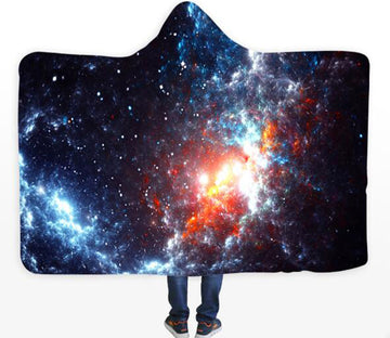 3D Cloud Stars 119 Hooded Blanket