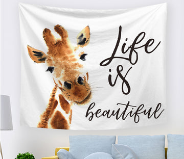 3D Cute Giraffe 2412 Tapestry Hanging Cloth Hang