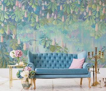 3D Flowering Woods 1250 Wall Murals