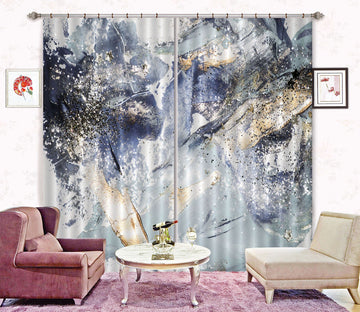 3D Abstract Smudge 62 Curtains Drapes Curtains AJ Creativity Home