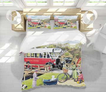 3D The Old Swing Bridge 2063 Trevor Mitchell bedding Bed Pillowcases Quilt