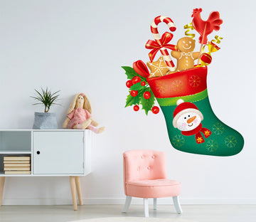 3D Green Sock Gift 28 Wall Stickers Wallpaper AJ Wallpaper