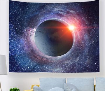 3D Black Sphere 2355 Tapestry Hanging Cloth Hang