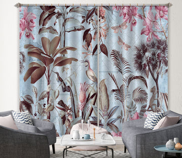 3D Bird Woods 028 Andrea haase Curtain Curtains Drapes