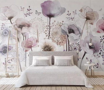3D Multicolor Flowers 1154 Wall Murals