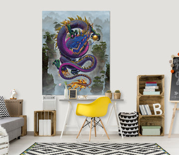 3D Good Fortune Dragon Def 040 Vincent Hie Wall Sticker
