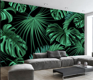 3D Forest Leaves WG309 Wall Murals