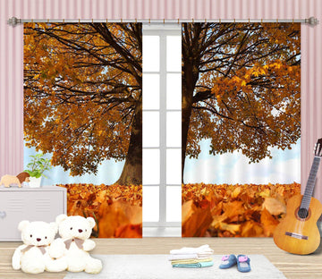 3D Autumn Leaves 826 Curtains Drapes Wallpaper AJ Wallpaper