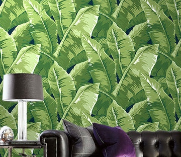 3D Forest Leaves WG313 Wall Murals