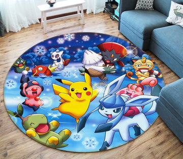 3D Pocket Monsters 57 Non Slip Rug Mat
