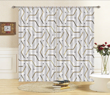 3D Mosaic Pattern 49 Curtains Drapes