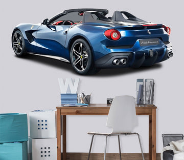 3D BLUE Ferrari 0153 Vehicles Wallpaper AJ Wallpaper