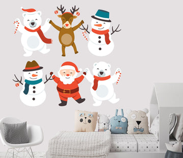 3D Hand In Hand Snowman 48 Wall Stickers Wallpaper AJ Wallpaper