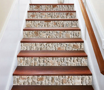 3D Retro Brick 6857 Marble Tile Texture Stair Risers Wallpaper AJ Wallpaper