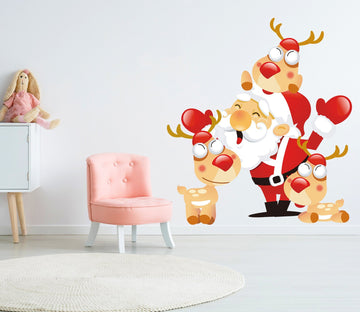 3D Cartoon Deer 43 Wall Stickers Wallpaper AJ Wallpaper