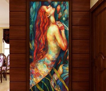 3D Long Hair Lady 508 Wall Murals