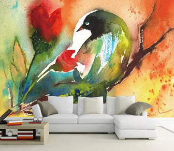 3D Color Bird 1171 Wall Murals