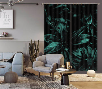 3D Dewdrop Leaves 1142 Boris Draschoff Curtain Curtains Drapes