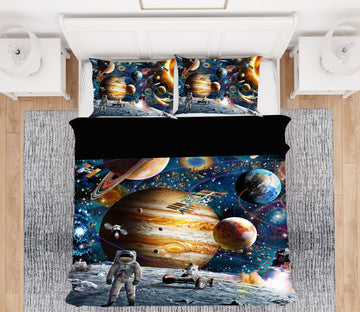 3D Space Odyssey 2025 Adrian Chesterman Bedding Bed Pillowcases Quilt