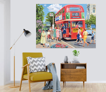 3D The Bus Conductress 068 Trevor Mitchell Wall Sticker