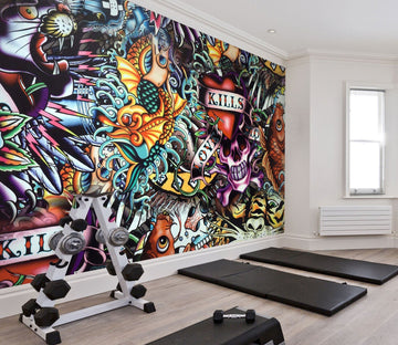 3D Abstract graffiti 38 Wall Murals Wallpaper AJ Wallpaper