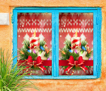 3D Christmas Gift 42176 Christmas Window Film Print Sticker Cling Stained Glass Xmas