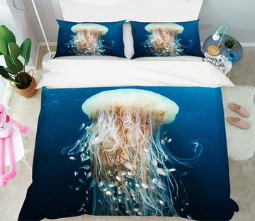 3D Jellyfish 21040 Bed Pillowcases Quilt
