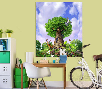 3D Big Tree 036 Jerry LoFaro Wall Sticker Wallpaper AJ Wallpaper 2
