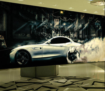 3D Fast Atuo 907 Vehicle Wall Murals