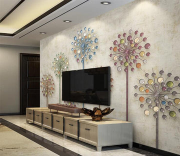 3D Diamond Dandelion WC227 Wall Murals