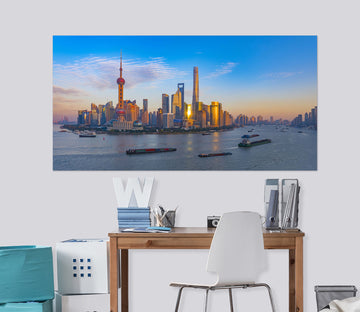 3D Water City 147 Marco Carmassi Wall Sticker