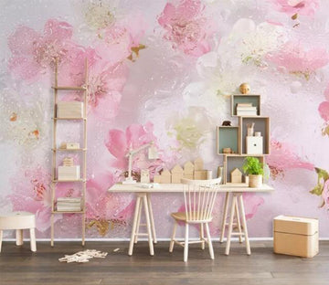 3D Pink Flowers WC102 Wall Murals