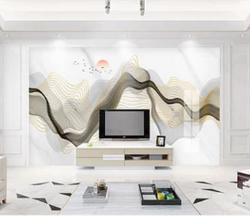 3D Black Ink 3003 Wall Murals