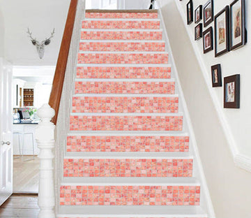 3D Bright Mosaic 0874 Marble Tile Texture Stair Risers Wallpaper AJ Wallpaper