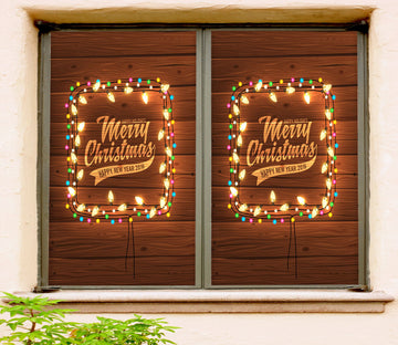 3D Christmas String Lights 42181 Christmas Window Film Print Sticker Cling Stained Glass Xmas