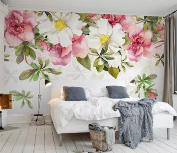 3D Colored Flowers WC092 Wall Murals