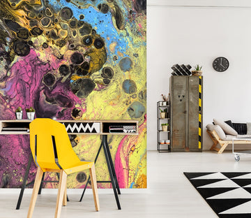 3D Colorful 40043 Euphoric Pouring Wall Mural Wall Murals