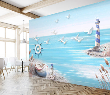3D Blue Sea 1461 Wall Murals