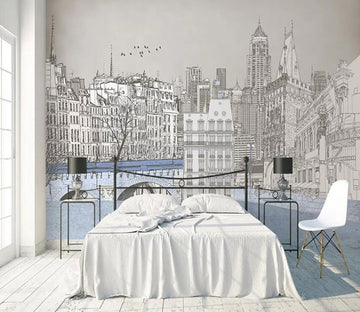 3D City 693 Wall Murals