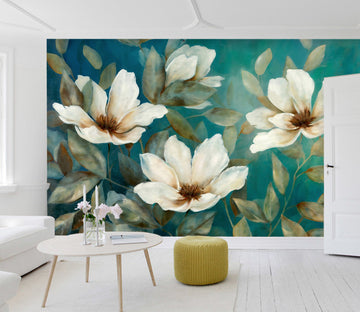 3D Retro Flower 33 Wall Murals