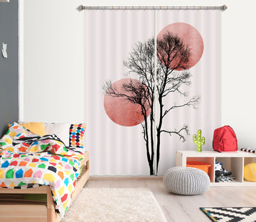 3D Big Tree 1113 Boris Draschoff Curtain Curtains Drapes