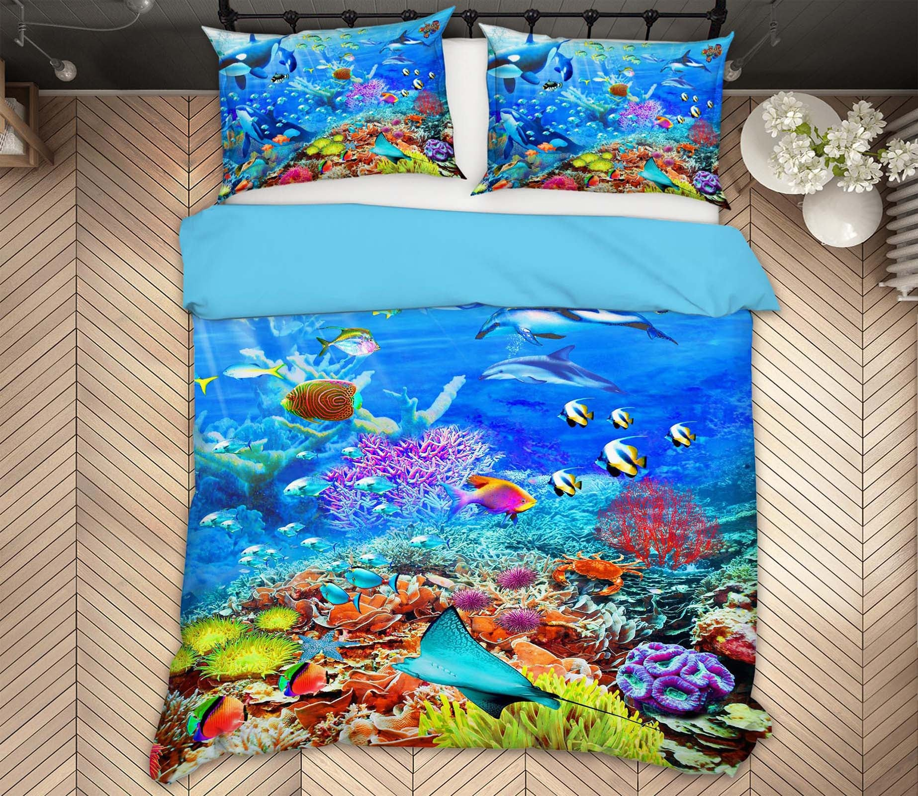 3D Undersea Fish 2034 Adrian Chesterman Bedding Bed Pillowcases Quilt