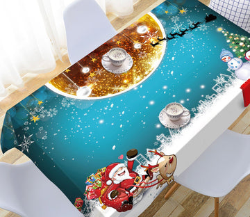 3D Golden Moon Snowflake 35 Tablecloths Tablecloths AJ Creativity Home