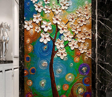 3D Tree Flower 651 Wall Murals