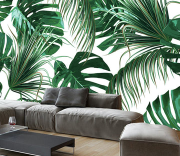 3D Forest Leaves WG283 Wall Murals