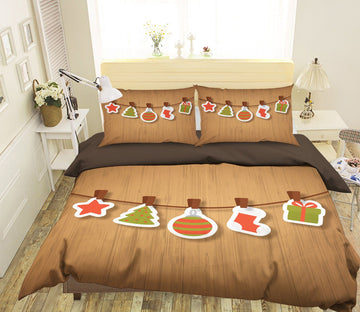 3D Christmas Brand Pendant 15 Bed Pillowcases Quilt