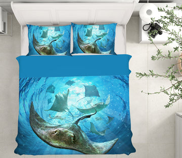 3D Sea Animals 18071 Jerry LoFaro bedding Bed Pillowcases Quilt