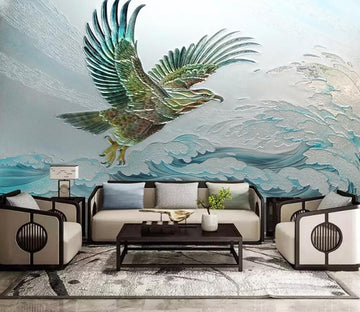 3D Eagle Spread Its Wings 2195 Wall Murals